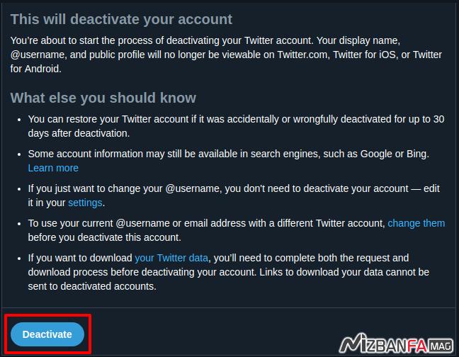 پاک کردن توییتر