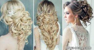 مدل مو عروس جدید باز